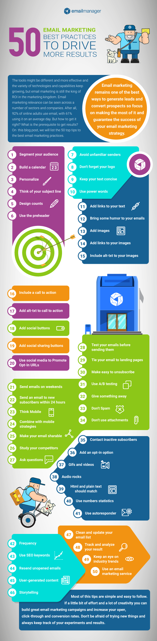 50 email marketing best practices to drive more results