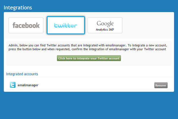Twitter API integration